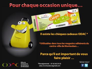 Le chèque Cad'ODAC pour chaque occasion !